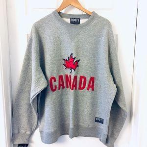 Roots | Gray XL Sweatshirt | Canada Maple Leaf